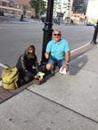 A man who was in need of food and conversation on  Front Street in Toronto