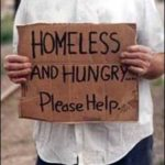 Homeless hungry Signage