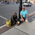Front street tommy Larocque with pan handler and friendly as can be